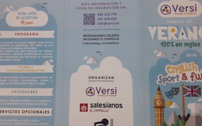 Campus de Verano 100% en inglés 2018 en Salesianos El Campello