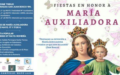 Programa de la Romería de María Auxiliadora 2018