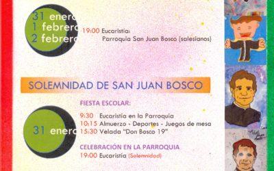 Programa de las fiestas de Don Bosco 2019 en El Campello