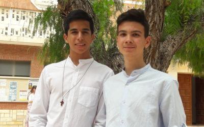 Álvaro y Fernando han sido confirmados en la fiesta de Pentecostés
